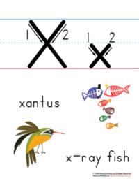 letter x handwriting practice