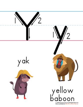 letter y printable