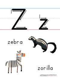 letter z printable