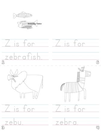 letter z printable book