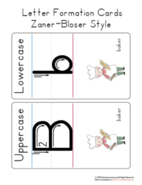letter b formation cards