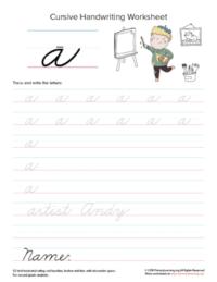 lowercase cursive a