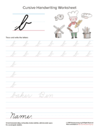 lowercase cursive b