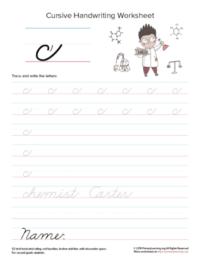lowercase cursive c