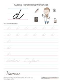 lowercase cursive d