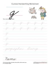 lowercase cursive g