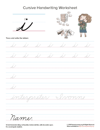lowercase cursive i