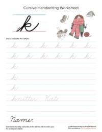 lowercase cursive k