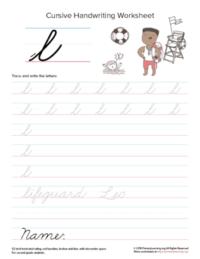 lowercase cursive l