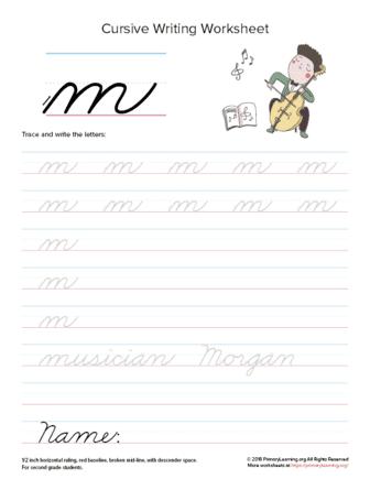 lowercase cursive m