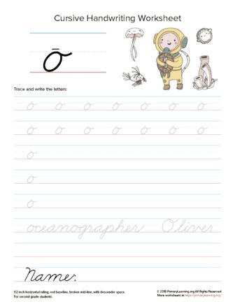 lowercase cursive o