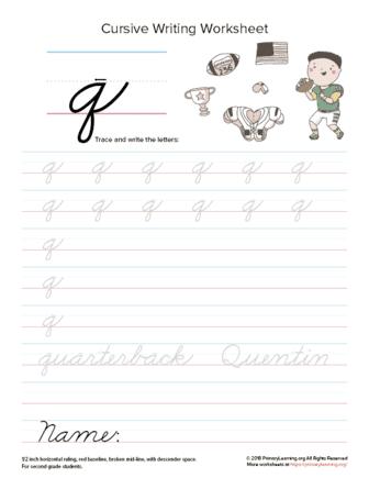 lowercase cursive q