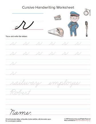 lowercase cursive r
