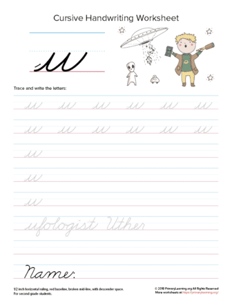 lowercase cursive u