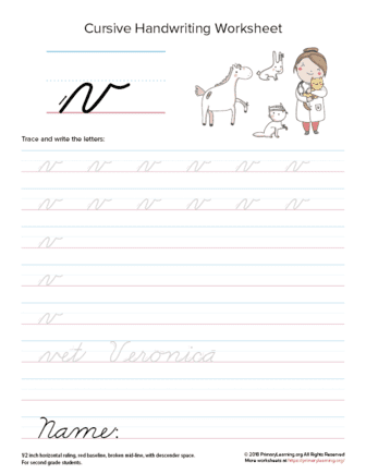lowercase cursive v