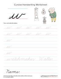lowercase cursive w