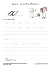 lowercase cursive x