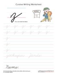 lowercase cursive z