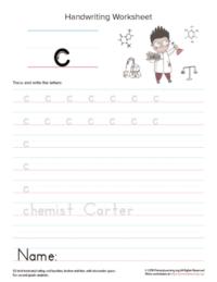 lowercase letter c