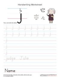 lowercase letter j