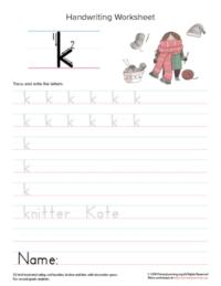lowercase letter k