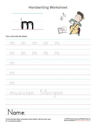 lowercase letter m