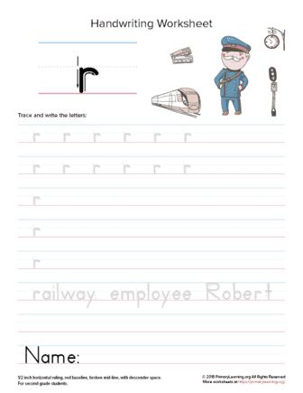 lowercase letter r