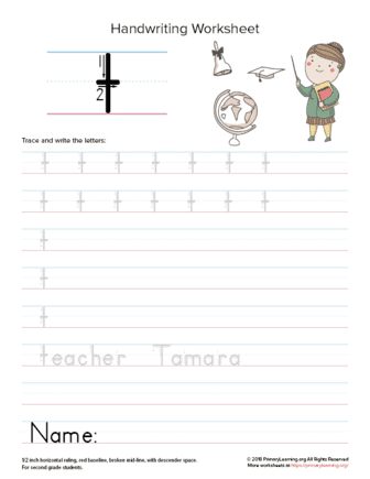 lowercase letter t