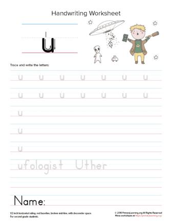 lowercase letter u