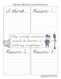 railway employee opinion writing