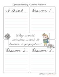 geographer opinion writing