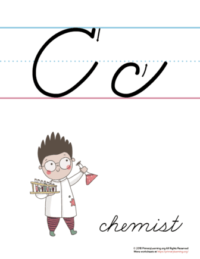 the letter c in cursive