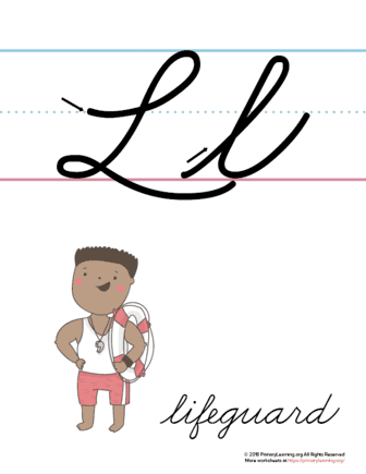 the letter l in cursive