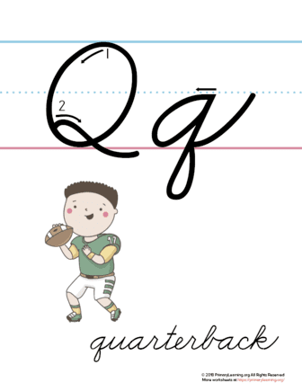 the letter q in cursive