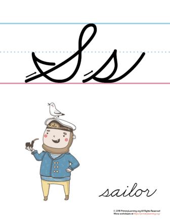 the letter s in cursive