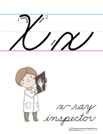 graphic regarding Letter X Printable identify The Letter X Within just Cursive - Printable Poster