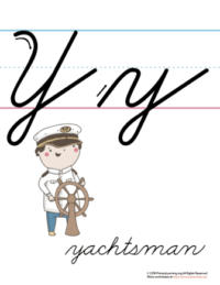 the letter y in cursive