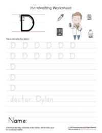 uppercase letter d