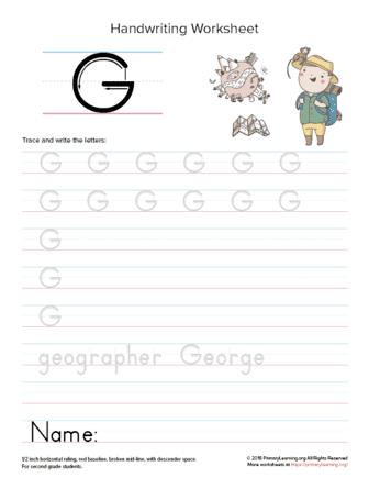 uppercase letter g