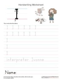 uppercase letter i