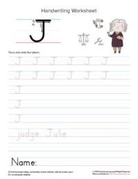 uppercase letter j