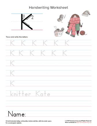 uppercase letter k