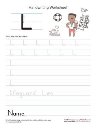 uppercase letter l