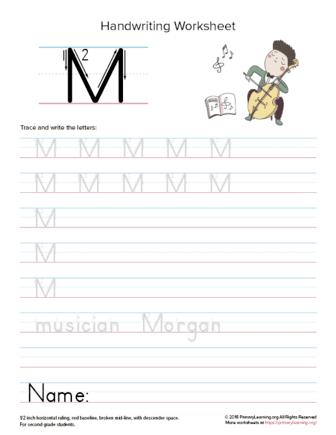 uppercase letter m
