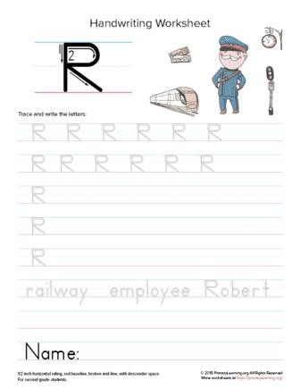 uppercase letter r