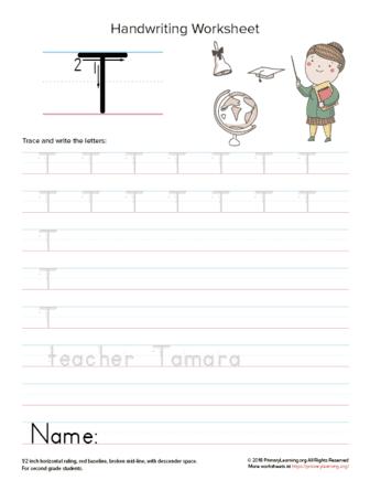 uppercase letter t