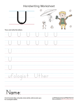uppercase letter u