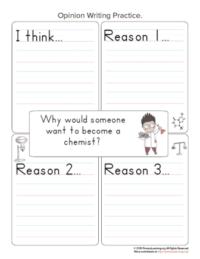 chemist writing opinion