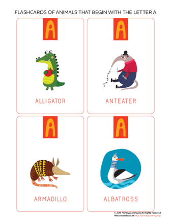 animals that begin with the letter a