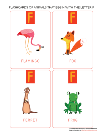 animals that begin with the letter f